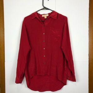 3/$30 Michael Michael Kors Silk Button Down Sz S